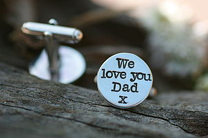 Personalised Love Cufflinks - cufflinks