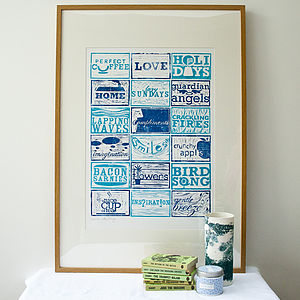 Reasons To Be Thankful! Lino Cut - posters & prints