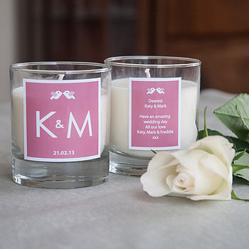 Personalised Initial Wedding Candle