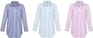NoLoGo Italian Shirting Stripe Tunic - t-shirts, tops & tunics
