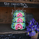Floral Enamel Tiffin Tin