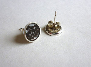 Handmade Silver Tea Stud Earrings