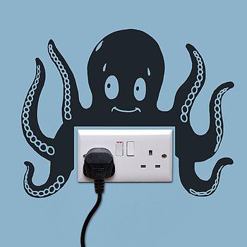 Octopus Power Socket Wall Sticker