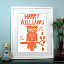 Personalised Child's 'Retro Owl' Print