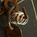 Silver And Copper Seed Stacking Ring