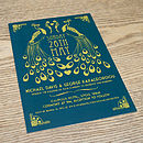 Peacock Art Deco Wedding Invitation