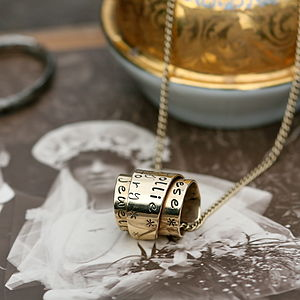 Personalised Gold Secret Scroll Necklace - fine jewellery