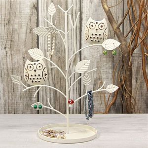 Owl Earring Tree - jewellery storage