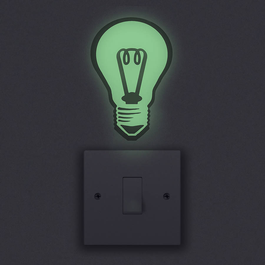 Lovely Glow In The Dark Light Bulb Wall Sticker Amazing Design