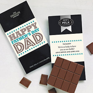 Father's Day Personalised Chocolate Card - chocolates