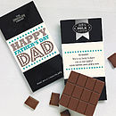 Father's Day Personalised Chocolate Card