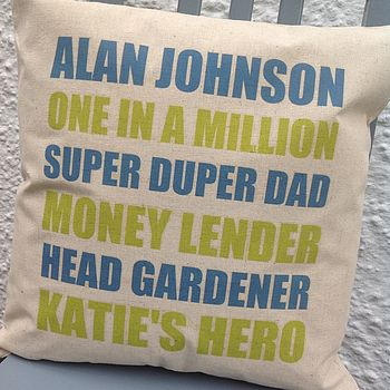 Personalised 'Message' Cushion