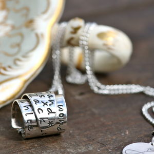 Personalised Secret Scroll Necklace - necklaces & pendants