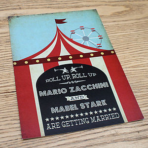Circus Funfair Vintage Wedding Invitation