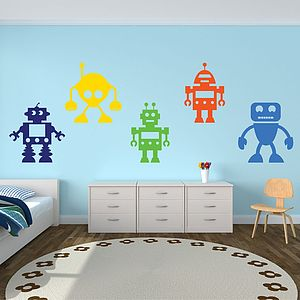 Robots Vinyl Wall Stickers - wall stickers