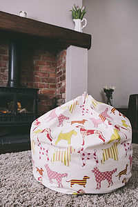 Dog Print Beanbag Sorbet Pink - furniture