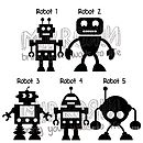 Robots Vinyl Wall Stickers