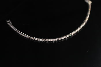 Silver Plated Single Row Diamante Bracelet