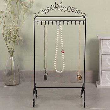 'Necklaces' Jewellery Stand
