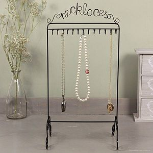 'Necklaces' Jewellery Stand - jewellery stands