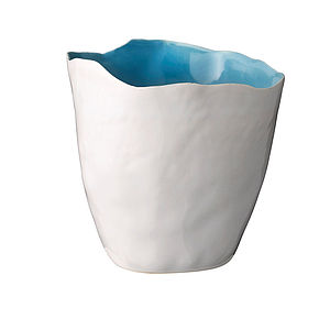 Ceramic Crumple Pot - ceramics