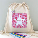 Girl's Personalised Bag Various Designs
