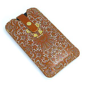 Printed Tan Lace Phone Case - leisure