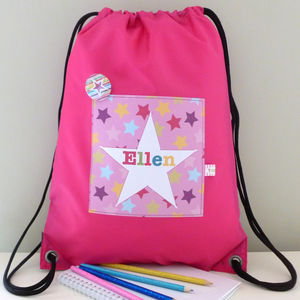 Girl's Personalised Star Waterproof Kit Bag - children's accessories