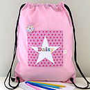 Girl's Personalised Spotty Waterproof Kit Bag
