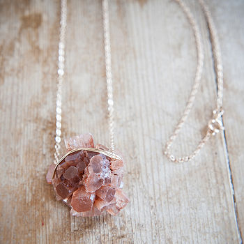 Peach Aragonite Necklace