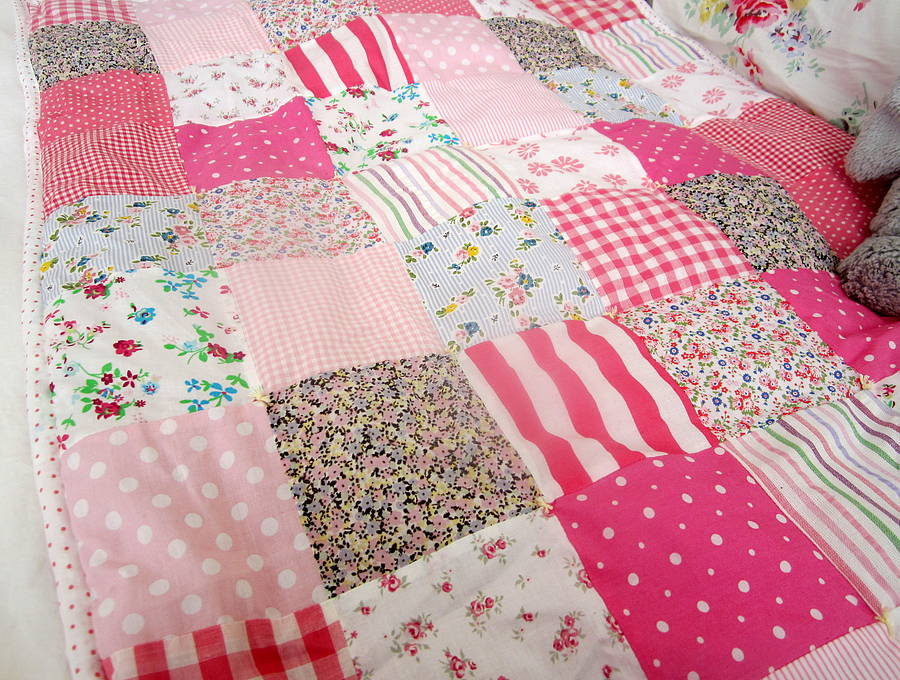 Patchwork Quilt Personalised Girls And Boys By The