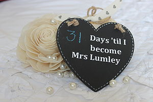 Days 'Til I Become…' Personalised Chalkboard - living room