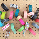 Set Of Four Washi Masking Tapes