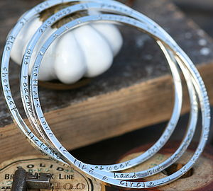 Personalised Just To Say Bangle - bracelets & bangles