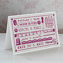 Vintage Style Sewing Typography Card