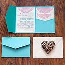 Pocketfold Wedding Invitation 'Lovely Lace'
