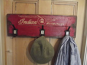 Vintage Motorcycle Advertising Hook Board