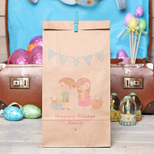 Personalised Bunting Easter Gift Bag - easter egg hunt