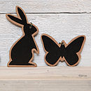 Four Easter Rabbit Or Butterfly Tags