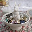 Ceramic Rabbit Jewellery Dish