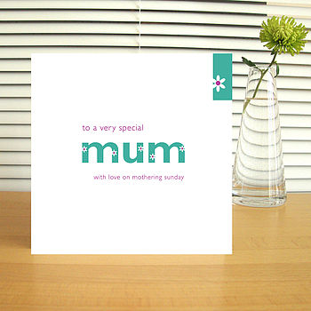 Personalised 'Mum' Mother's Day Card
