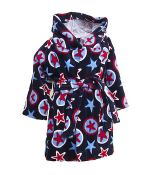 Printed Cotton Velour Star Printed Robe