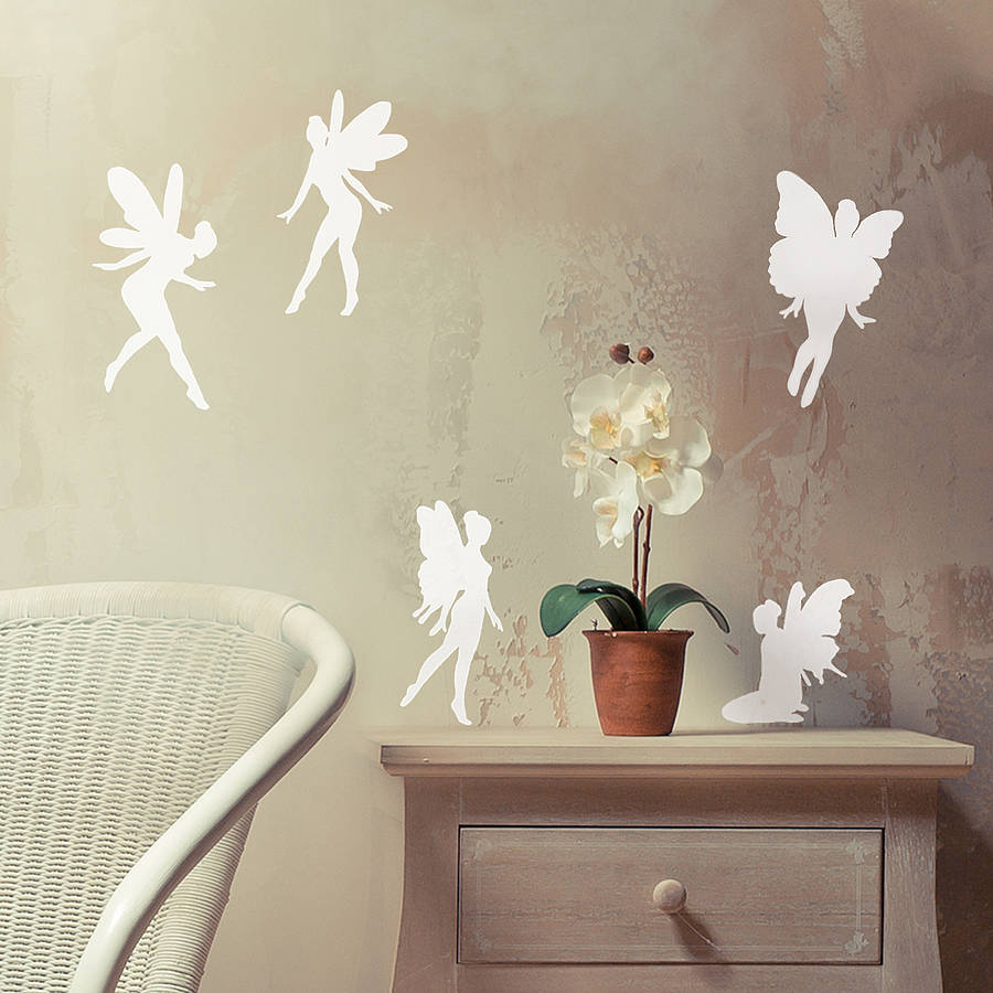 Fairy Vinyl Wall Sticker Set By Oakdene Designs