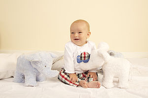 Baby Boy's Pyjamas With Matching Bag - children's clothing