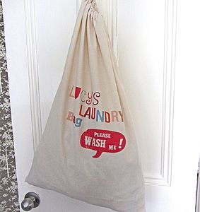 Personalised Laundry Bag - laundry bags & baskets
