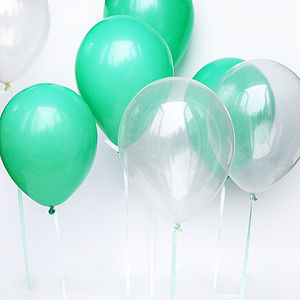 Pack Of 10 Balloons - mint, blush & gold