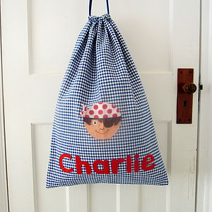 Personalised Boy's Pirate Laundry Bag - baby's room