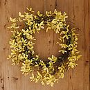 Forsythia Easter Wreath