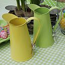Coloured Metal Flower Jug