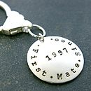 Personalised 'First Mate Since' Key Ring